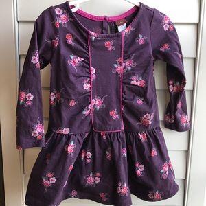 Tea purple floral knit dress/tunic 18-24M